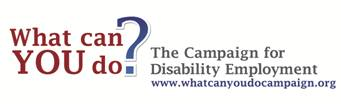 Text that asks What can you do? The Campaighn for Disability Employment.