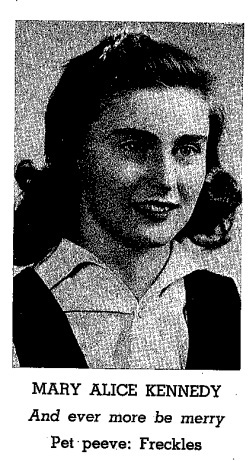 Mary Alice Kennedy Yearbook Photo